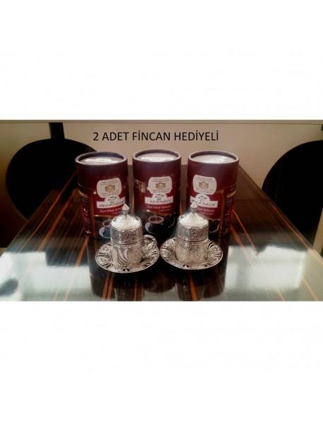 3 Adet 250 Gr Dibek Kahvesi + 2 Adet Fincan